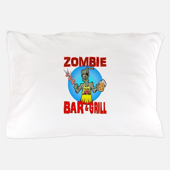Zombie Bar Grill Pillow Case