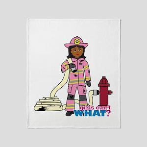 Firefighter - Custom2 Throw Blanket