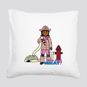Firefighter - Custom2 Square Canvas Pillow