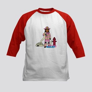 Firefighter - Custom2 Kids Baseball Jersey