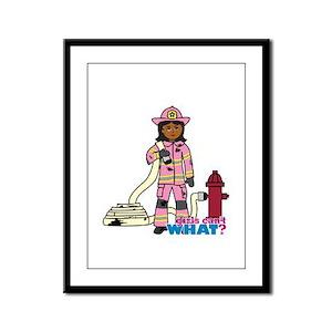 Firefighter - Custom2 Framed Panel Print