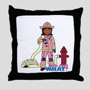 Firefighter - Custom2 Throw Pillow