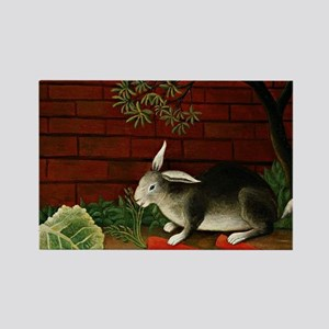 Henri Rousseau: Rabbit Rectangle Magnet