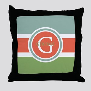 Trendy Modern Monogram Throw Pillow