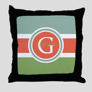 Trendy Modern Monogram Throw Pillow
