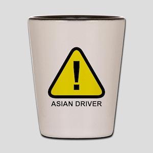Asian Driver Alert Shot Glass
