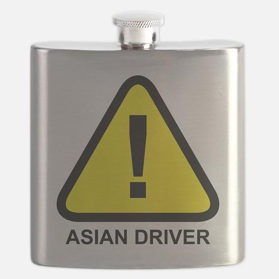 Asian Driver Alert Flask