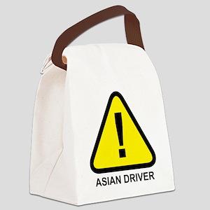 Asian Driver Alert Canvas Lunch Bag