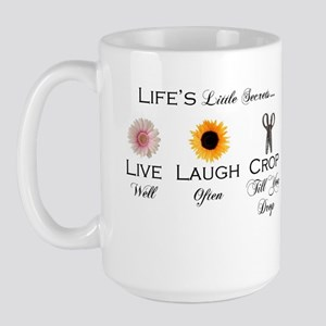 Live.Laugh.Crop. Large Mug
