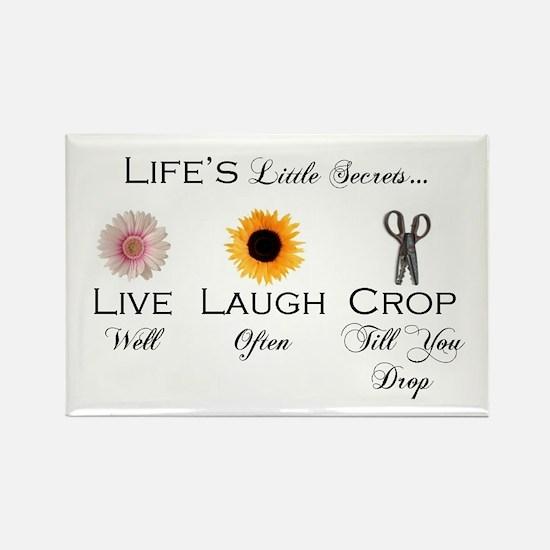 Live. Laugh. Crop. Rectangle Magnet