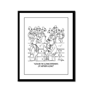 Shepherd Cloning Framed Panel Print