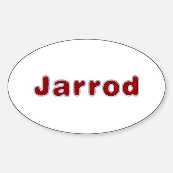 Jarrod Santa Fur Oval Decal