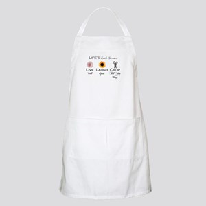 Live.Laugh.Crop. BBQ Apron