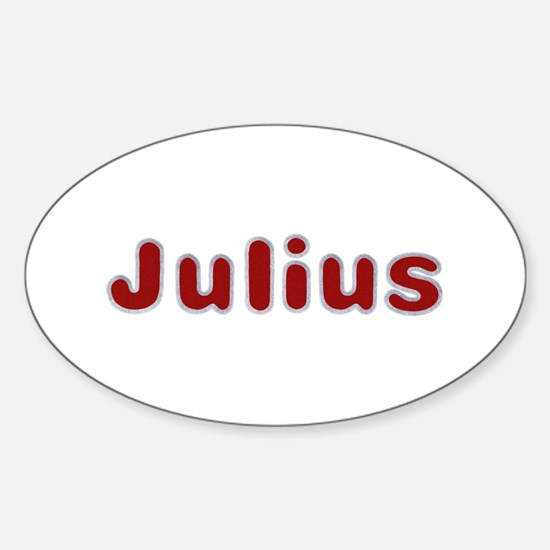 Julius Santa Fur Oval Decal