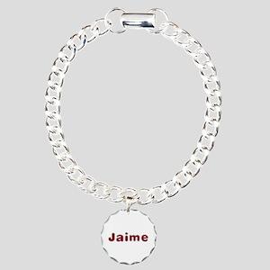 Jaime Santa Fur Charm Bracelet
