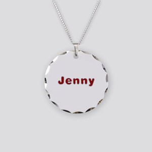Jenny Santa Fur Necklace Circle Charm