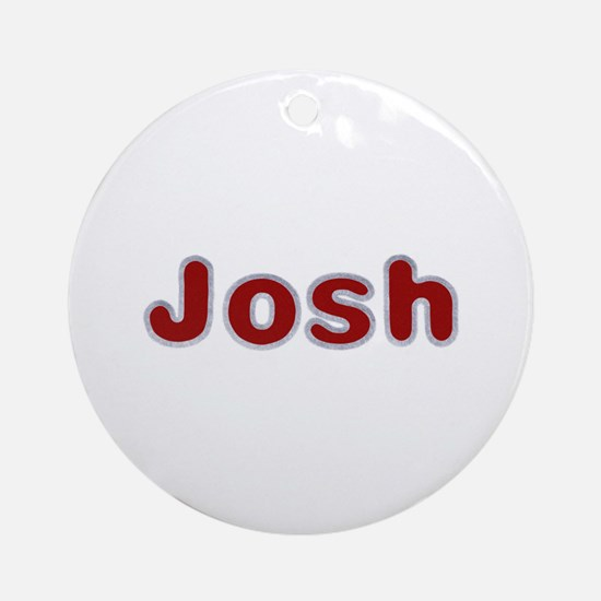 Josh Santa Fur Round Ornament