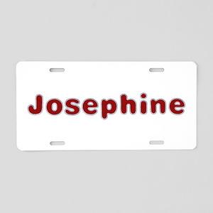 Josephine Santa Fur Aluminum License Plate