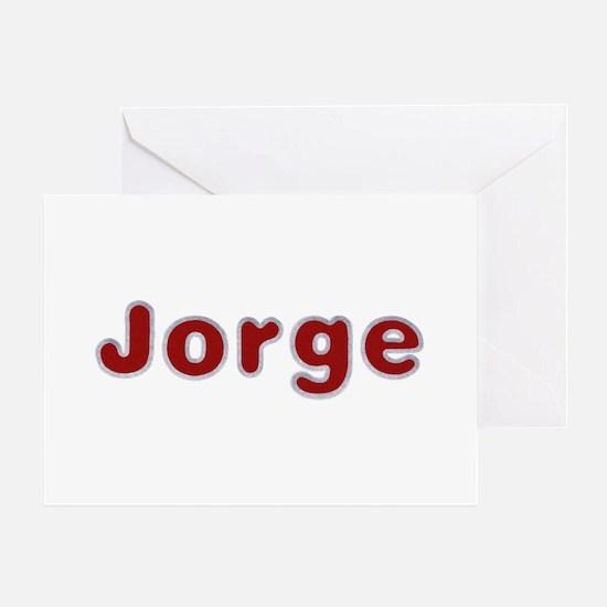 Jorge Santa Fur Greeting Card