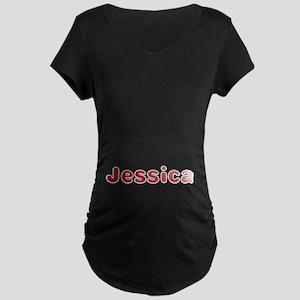 Jessica Santa Fur Maternity Dark T-Shirt