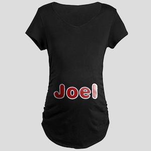 Joel Santa Fur Maternity Dark T-Shirt