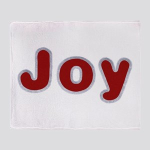 Joy Santa Fur Throw Blanket