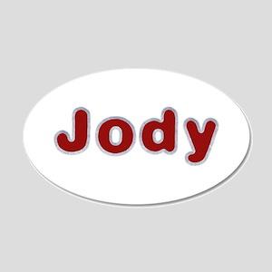 Jody Santa Fur 20x12 Oval Wall Decal