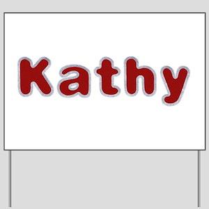 Kathy Santa Fur Yard Sign
