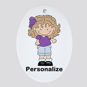 My Girl Personalized Oval Ornament