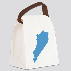 Kentucky State Shape Outline Canvas Lunch Bag
