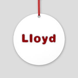 Lloyd Santa Fur Round Ornament