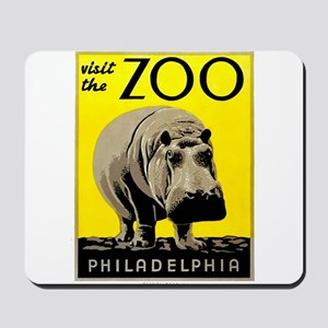 Antique 1936 Hippo Philadelphia Zoo Poster Mousepa