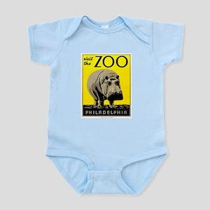 Antique 1936 Hippo Philadelphia Zoo Poster Body Su