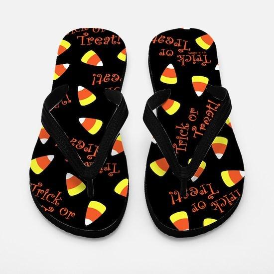 Halloween Candy Corn Flip Flops