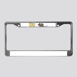 Mouse and Cheese License Plate Frame