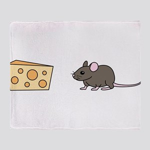 Mouse and Cheese Throw Blanket