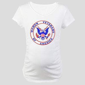 Women Veterans of America logo Maternity T-Shirt