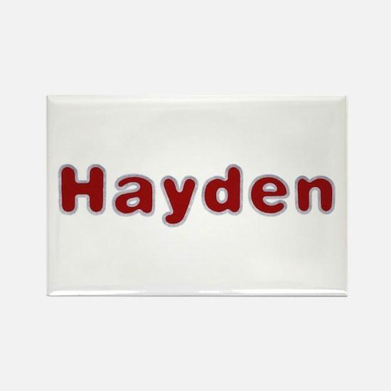 Hayden Santa Fur Rectangle Magnet