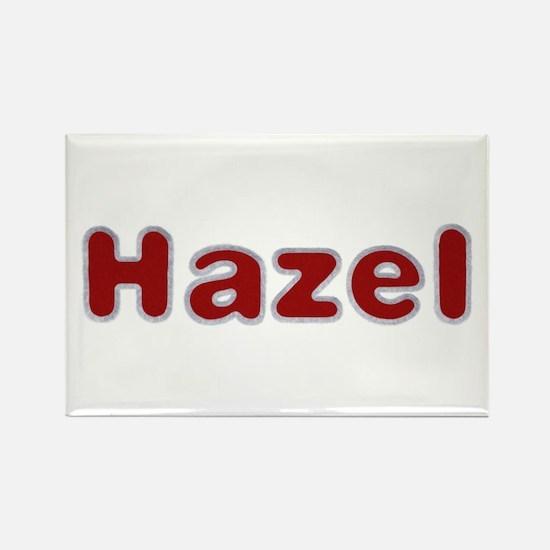 Hazel Santa Fur Rectangle Magnet