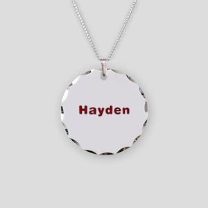 Hayden Santa Fur Necklace Circle Charm