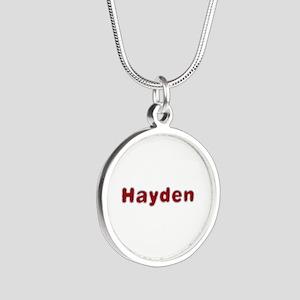 Hayden Santa Fur Silver Round Necklace