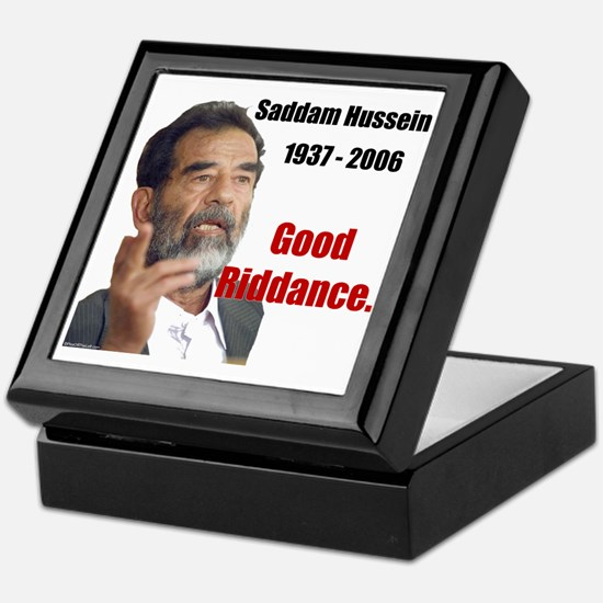 Saddam Hussein Keepsake Box