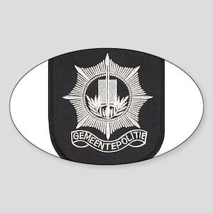 Gemeente Polite Oval Sticker
