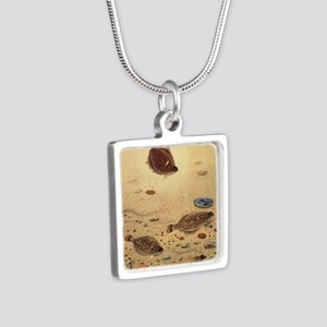 Vintage Marine Life Fish, Flounders Necklaces