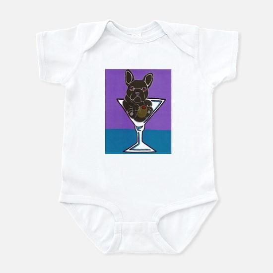 Black/Brindle French Bulldog Infant Bodysuit