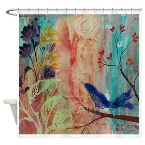 Robin Bird Shower Curtains