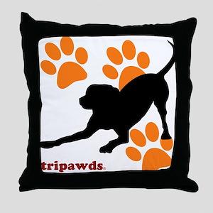 Tripawds Hound Dog Throw Pillow
