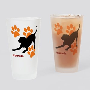 Tripawds Hound Dog Drinking Glass