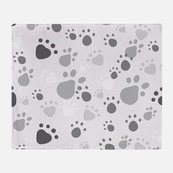 Paw Prints Throw Blanket