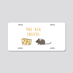 The Big Cheese Aluminum License Plate